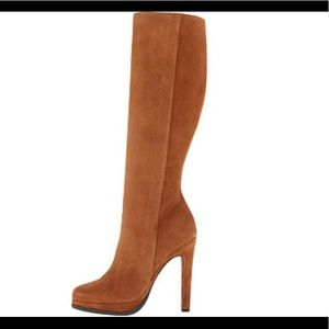 UGGS Collection Raffaela Leather Suede Boot Heels
